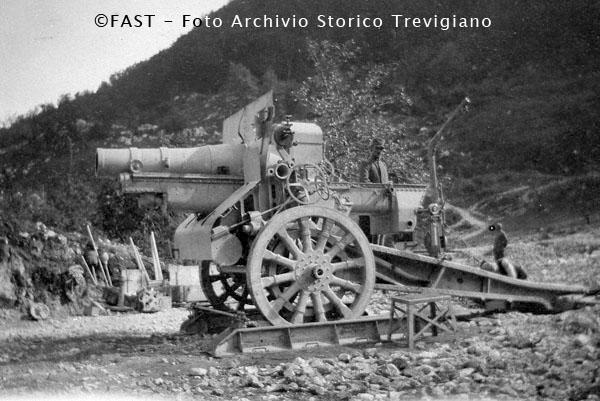 1915-1918 - Mortaio da 260 - Foto Archivio Storico Treviso